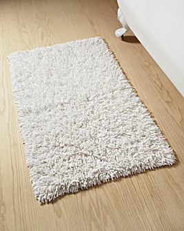 Everyday Twist Cotton Bath Mat White