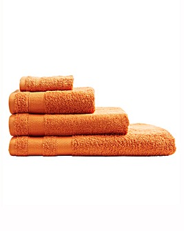 Egyptian Cotton Towel Range Tangerine