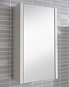 White Gloss Mirror Wall Cabinet