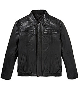 W&B Black Leather Jacket R