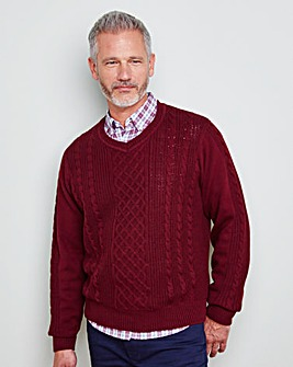 WILLIAMS & BROWN V-Neck Cable Jumper