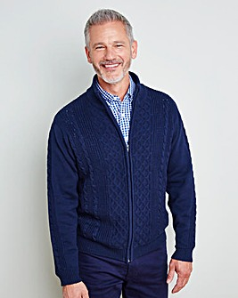 WILLIAMS & BROWN Zipper Cardigan