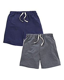 Capsule Pack of 2 Jersey Pyjama Shorts