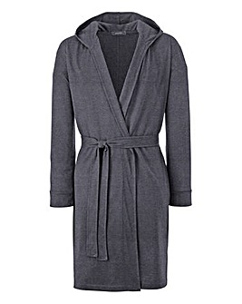 Jersey Hooded Dressing Gown