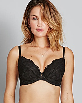 Gossard Superboost Lace Plunge Black Bra