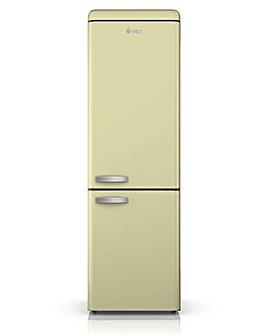 Swan Retro 300L Fridge Freezer - Cream