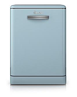 Swan Retro 12 Place Dishwasher - Blue