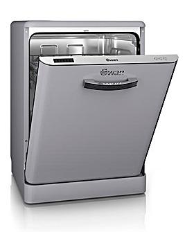 Swan Retro 12 Place Dishwasher - Grey