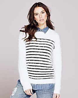 Fluffy Striped Jumper