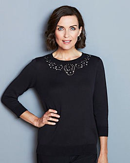 Jewel-Neck Jumper