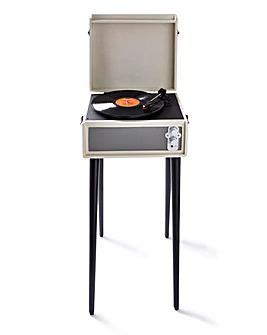Retro Record Player with Legs Cream