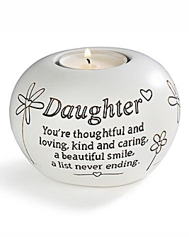 Daughter Sentiments Tea Light Holder