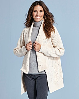 Cable And Pointelle Cardigan