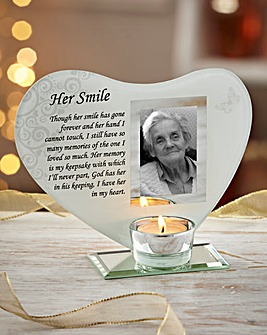 Her Smile Glass Tealight Holder