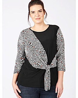 Lovedrobe GB abstract print top
