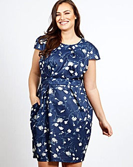 Blue Vanilla Curve Tulip Dress