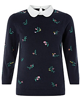 Monsoon Sally Embroidered Jumper