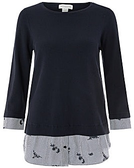 Monsoon Amelie Embroidered Stripe Jumper