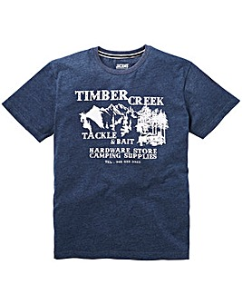 Jacamo Timber Graphic T-Shirt Long