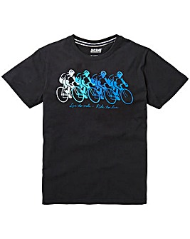 Jacamo Bikey Graphic T-Shirt Long