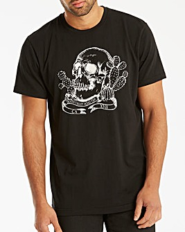 Jacamo Skulls Graphic T-Shirt Long