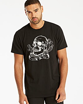 Jacamo Skulls Graphic T-Shirt Regular