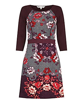 Yumi Curves Vintage Floral Print Dress