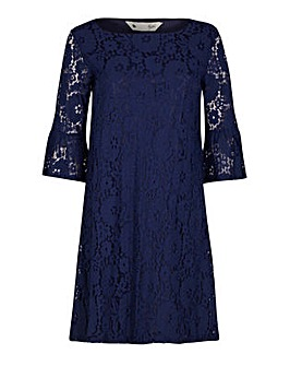 Yumi Curves Fluted Sleeve Lace Tunic Dre