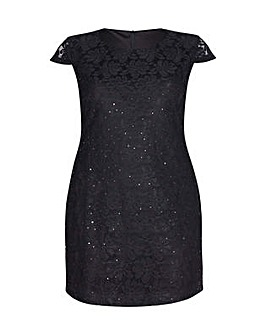 Mela London Curve Floral Lace Sequin Dre