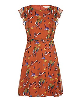 Yumi Curves Bird and Butterfly Print Dre