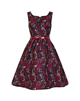 Lindy Bop Nova Painted Roses Swing Dress