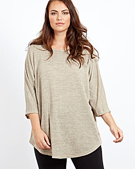 Blue Vanilla Curve Casual Tunic Jumper