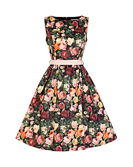 Lindy Bop Audrey Rose Bush Swing Dress