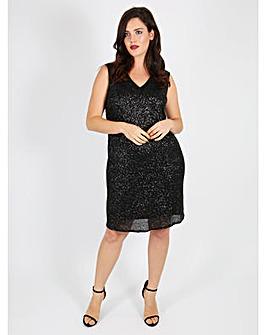 Lovedrobe GB black sequin shift dress