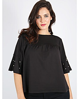 Koko black pearl sleeve top