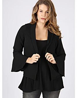 Koko black bell sleeve jacket