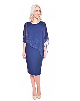 Grace chiffon overlay stud dress