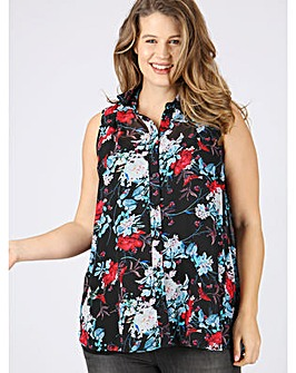 Koko floral print sleeveless blouse
