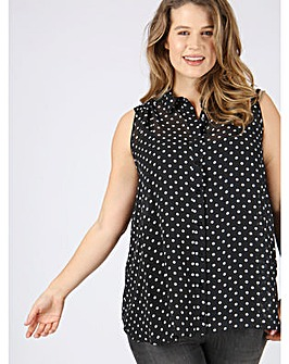 Koko spot print sleeveless blouse