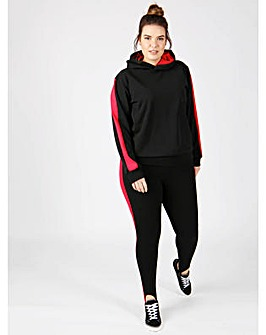 Koko black red stripe stirrup trousers