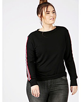 Koko black sweatshirt with stripes