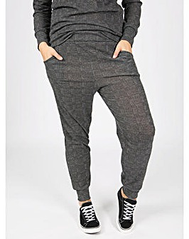 Koko grey tweed print joggers