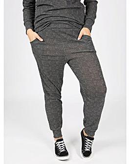 Koko grey tweed print joggers