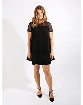 Lovedrobe GB black lace yoke swing dress