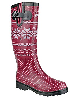 Cotswold Fairisle Womens Wellingtons