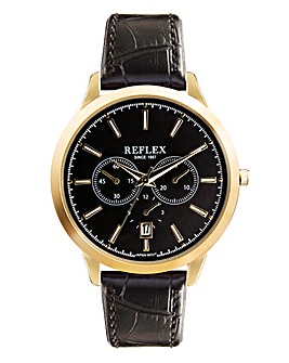 Gents Chronograph Watch - Black Strap