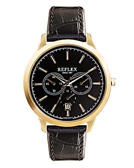 Gents Chronograph Watch - Black Strap