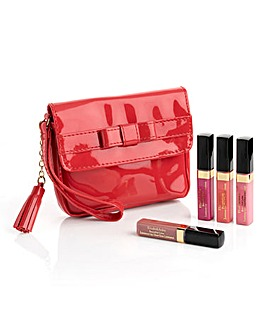 Elizabeth Arden Lip Gloss Red Purse Set