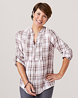 Check Cotton Blouse