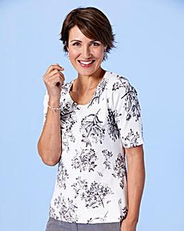 Slimma Floral Print Embellished Jumper